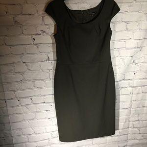 Antonio Melani chocolate pinstripe dress Sz 8